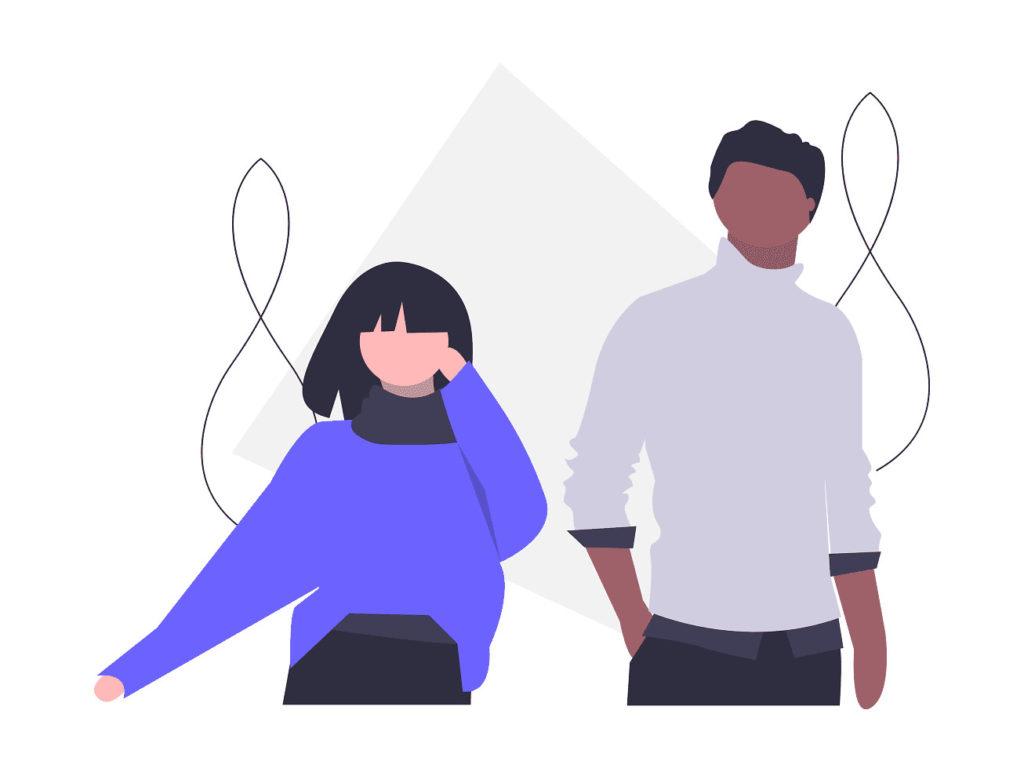 男性と女性の画像。