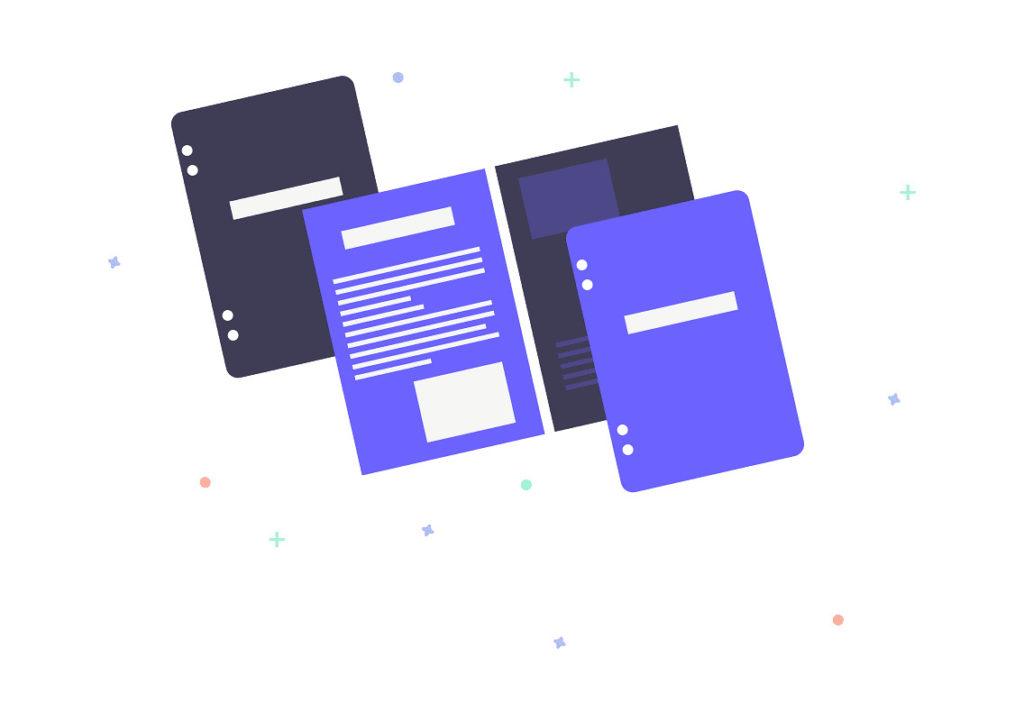 4冊のノートの画像。
