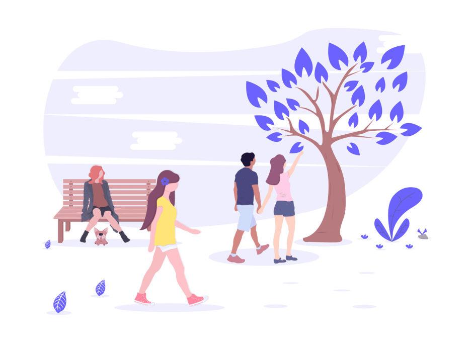 公園の画像。