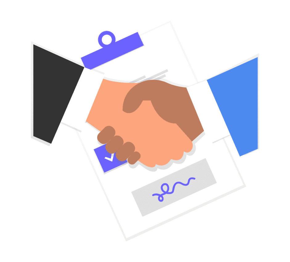 手を繋ぐ画像。