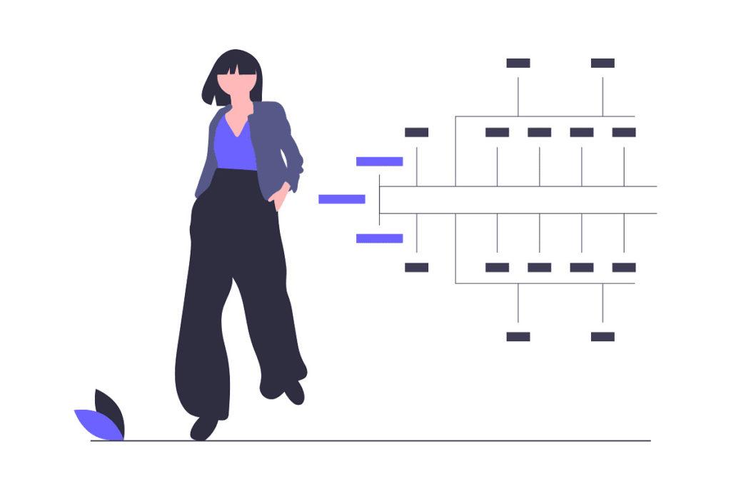 女性のキャリアを分析した画像。