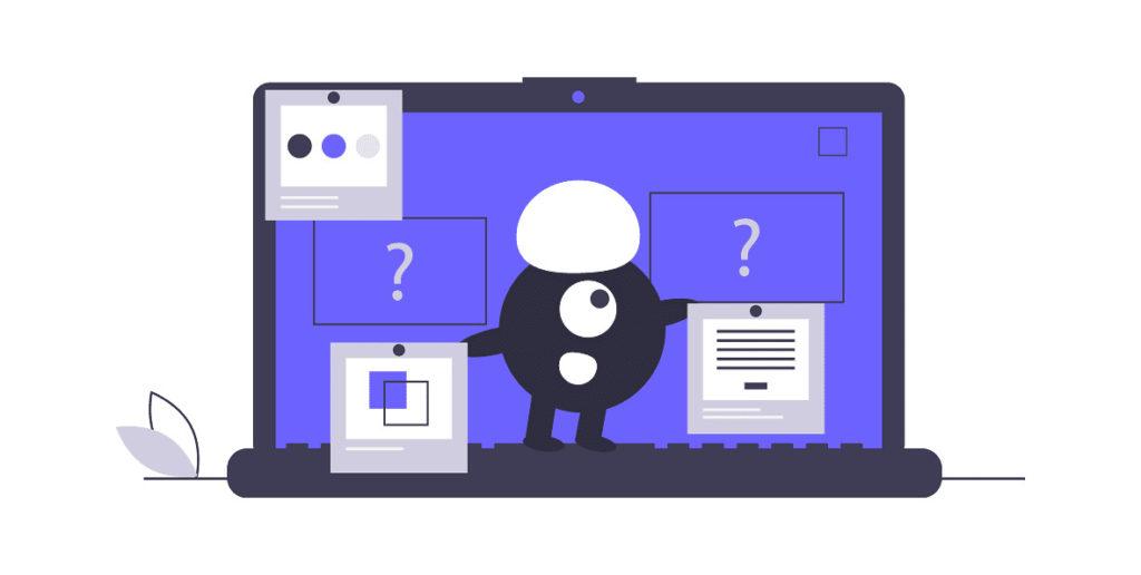 キャラクターが2つのデータをテストしている画像。