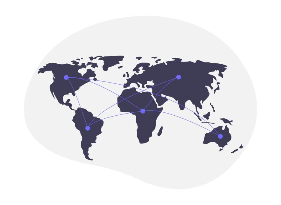 世界地図の画像。