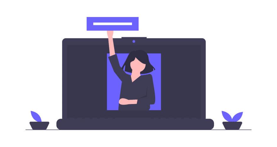 女性がアドレスを作っている画像。