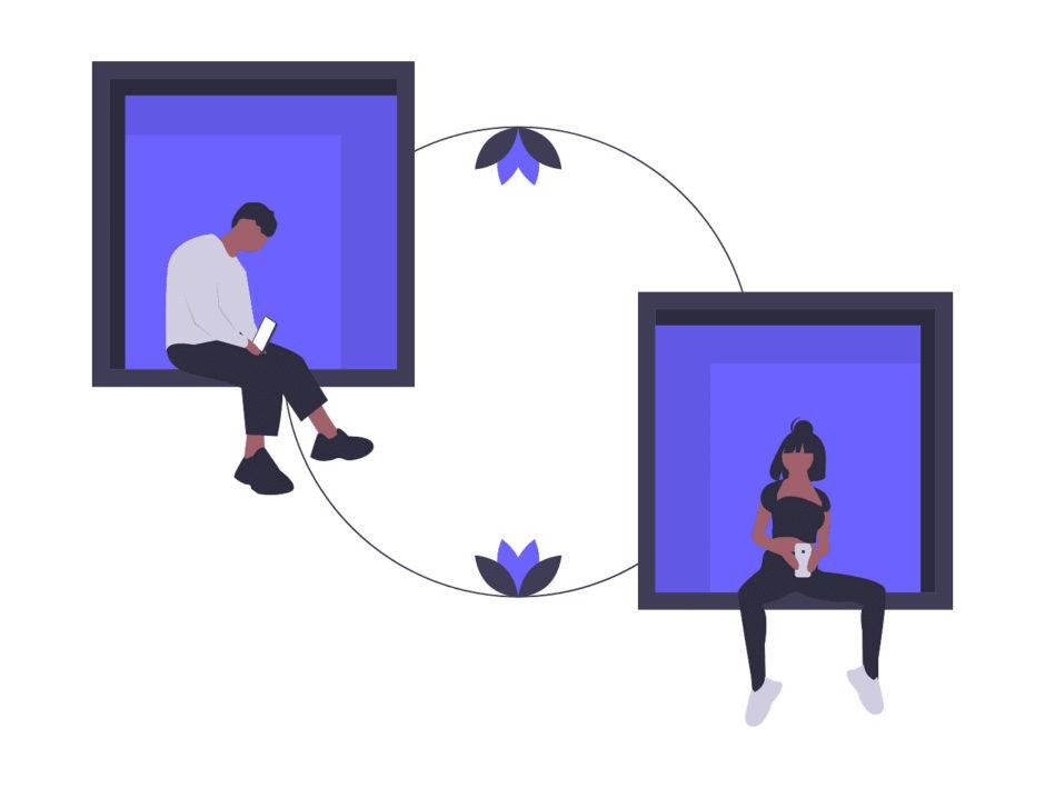 タブレットを接続する画像。