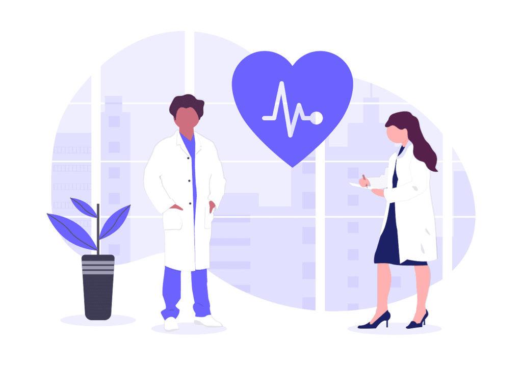医者と女医の画像。