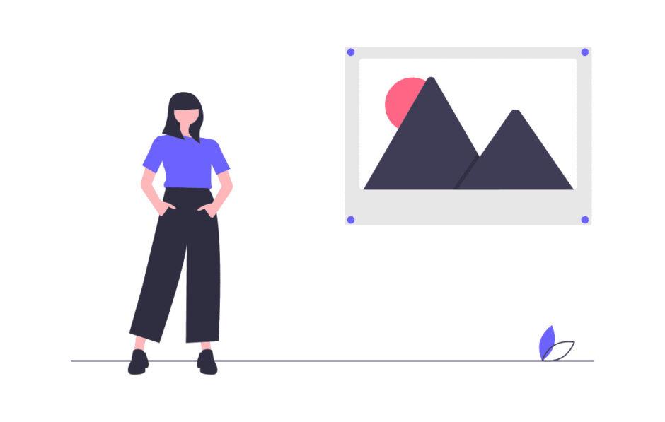 女性がプログラミングをする画像。