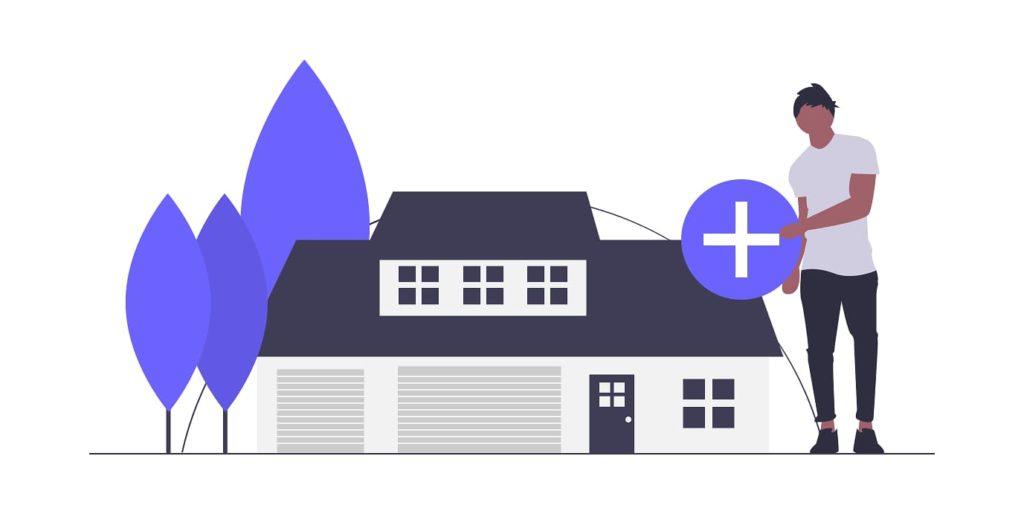 家を購入する画像。