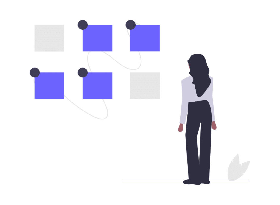 オプションを選択する女性の画像。