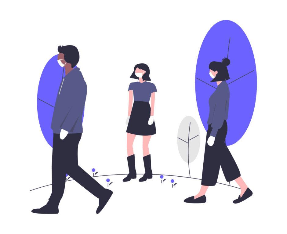 社会的な距離の画像。