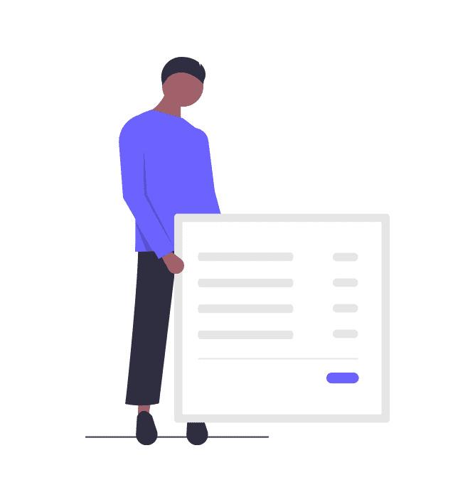 領収書を見せる男性の画像。
