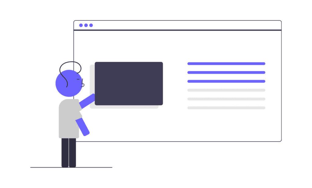 オンラインページの画像。