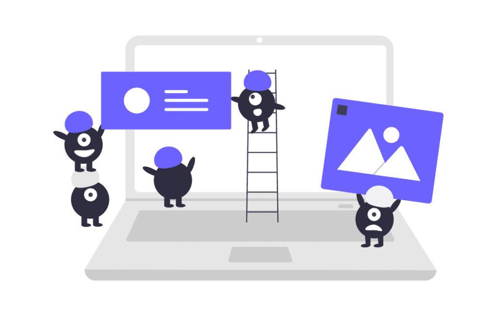 コンテンツを作成するチームの画像。