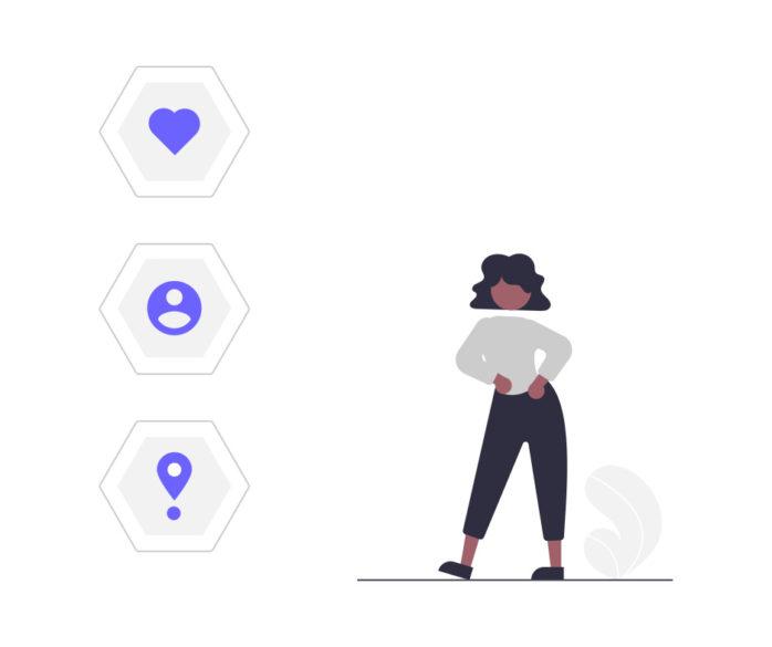 女性の個人情報の画像。