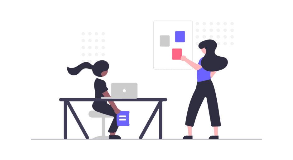 チームワークのある女性達の画像。